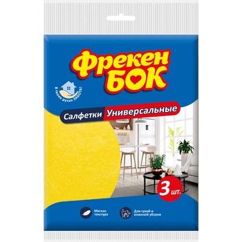 Салфетка Фрекен Бок для уборки универсальная вискозная 30х38см 3шт