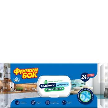 Freken Bok Household Wipes for Kitchen and Bathroom 24pcs - buy, prices for Novus - photo 1