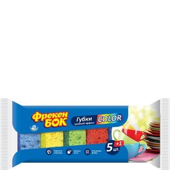 Губки кухонні Фрекен Бок Сolor + 1шт безкоштовно 5 + 1шт/уп - купити, ціни на Восторг - фото 1
