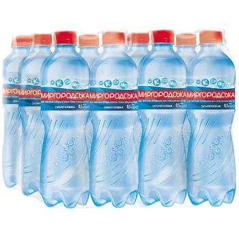 Минеральная вода Миргородская сильногазированная 0,5л