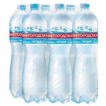 Вода Миргородская мягкая минеральная слабогазированная 1,5л