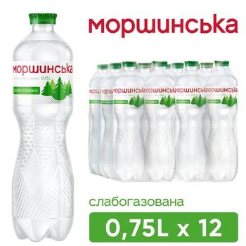 Вода минеральная Моршинская слабогазированная 0,75л