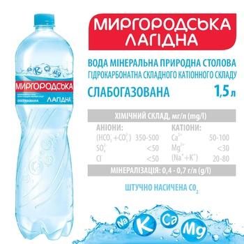 Вода Миргородская мягкая минеральная слабогазированная 1,5л - купить, цены на Метро - фото 2