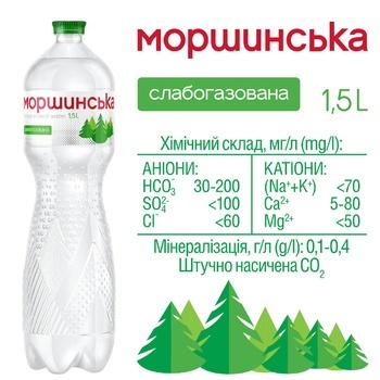 Мінеральна вода Моршинська слабогазована 1,5л - купити, ціни на Метро - фото 2