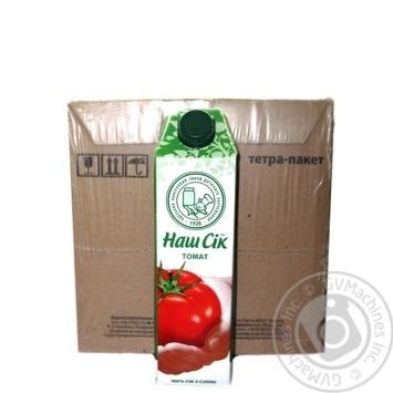 Сок Наш сок томатный 0,95л опт*12шт