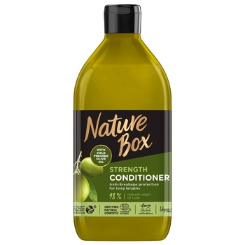 Nature Box Balm for Long Hair Strengthening and Anti-breakage with Extra Virgin Olive Oil 385ml - buy, prices for Auchan - photo 1