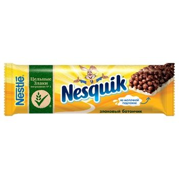 Батончик NESTLÉ® NESQUIK® с цельными злаками, какао и витамином Д 25г - купить, цены на УльтраМаркет - фото 1
