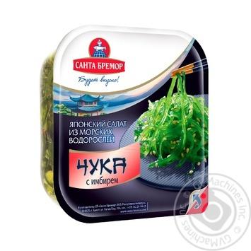 Салат Санта Бремор Чука з імбиром з морських водоростей 150г - купити, ціни на Восторг - фото 1