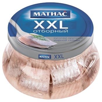 Santa Bremor Matias XXL Selected Pickled In Oil Herring Pieces 260g - buy, prices for Tavria V - image 1