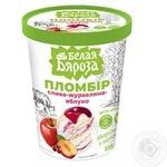 Морозиво Белая Бяроза пломбір слива-журавлина-яблуко 555г