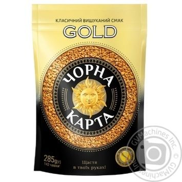 Chorna Karta Gold instant coffee 285g - buy, prices for MegaMarket - image 1
