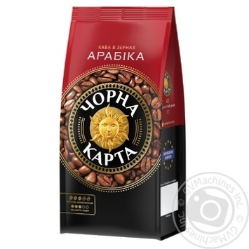 Кофе Чорна Карта Арабика в зернах 500г - купить, цены на Novus - фото 1