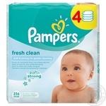 Серветки вологі дитячі Pampers Fresh Clean 256шт
