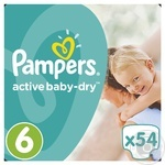 Подгузники Pampers Active Baby-Dry 6 Extra Large 15+ кг 54шт