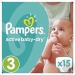 Подгузники Pampers Active Baby-Dry 3 Midi 5-9кг 15шт