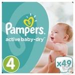 Подгузники Pampers Active Baby-Dry 4 Maxi 8-14кг 49шт