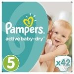 Pampers Active Baby-Dry 5 Junior Baby Diapers 11-18kg 42pcs