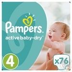 Diapers Pampers Active Baby-Dry 4 Maxi 8-14kg 76pcs