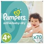Подгузники Pampers Active Baby-Dry 4+ 9-16кг 70шт