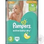 Diapers Pampers Active Baby-Dry 3 Midi 5-9kg 90pcs