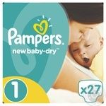 Pampers New Baby Newborn Baby Diapers 2-5kg 27pcs