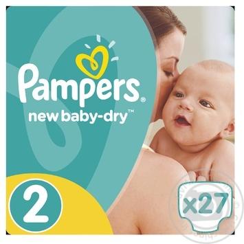 Подгузники Pampers New Baby-Dry 2 Mini 3-6кг 27шт