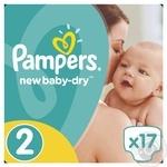 Подгузники Pampers New Baby-Dry 2 Mini 3-6кг 17шт