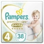 Pampers Premium Care 4 Maxi Pants 9-15kg 38pcs