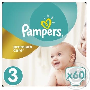 Подгузники Pampers Premium Care 3 Midi 5-9кг 60шт