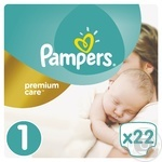 Подгузники Pampers Premium Carе New Born 1 Микро 2-5кг 22шт