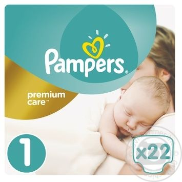 Diapers Pampers Premium Care New Born 1 2-5kg 22pcs