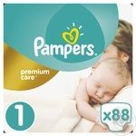 Подгузники Pampers Premium Carе New Born 1 2-5кг 88шт