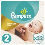 Подгузники Pampers Premium Carе New Born 2 Микро 3-6кг 22шт
