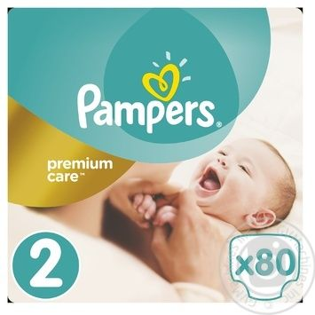 Подгузники Pampers Premium Carе New Born 2 3-6кг 80шт