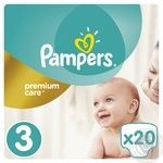 Подгузники Pampers Premium Care 3 Midi 5-9кг 20шт