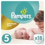 Подгузники Pampers Premium Care 5 Junior 11-18кг 18шт