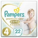 Подгузники-трусики Pampers Premium care pants 9-15кг 22шт