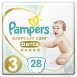 Підгузники-трусики дитячі одноразові Pampers Premium Care Pants Midi (6-11 кг) 28шт