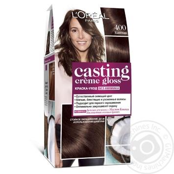 Фарба-догляд для волосся L'Oreal Paris Casting Creme Gloss 400 Каштановий без аміаку