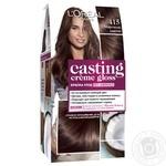Фарба-догляд для волосся L'Oreal Casting Creme Gloss 415 Морозний каштан без аміаку