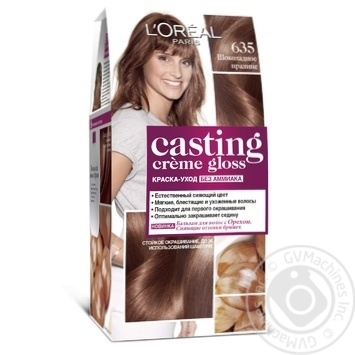 Краска-уход для волос L'Oreal Casting Creme Gloss 635 Шоколадное пралине без аммиака