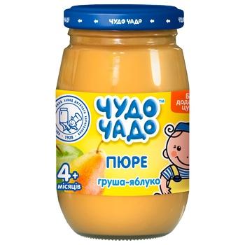 Пюре из груш и яблок без сахара Чудо-Чадо от 4-х месяцев 170г - купить, цены на ЕКО Маркет - фото 1