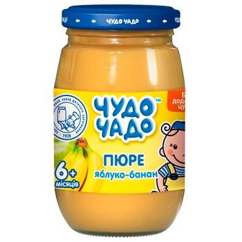 Пюре яблочно-банановое без сахара Чудо-Чадо от 6-ти месяцев 170г - купить, цены на ЕКО Маркет - фото 1