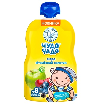Chudo-Chado puree Vitamin salad of fruits and berries for children from 8 months 90g - buy, prices for CityMarket - photo 1