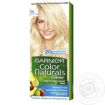 Обесцвечивающий крем для волос Garnier Color Naturals с 3-мя маслами Е0 Суперблонд