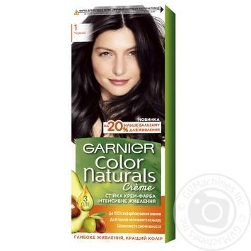 Краска д/волос Garnier Color Naturals 1 черный шт - купить, цены на Ашан - фото 1