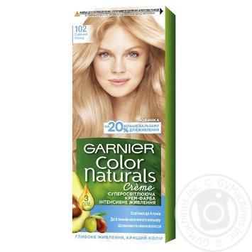Крем-краска для волос Garnier Color Naturals суперосветляющая №102 Снежный блонд
