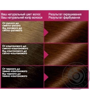 Краска для волос Garnier Color sensation №6.35 золотисто-каштановый 1шт - купить, цены на Ашан - фото 2