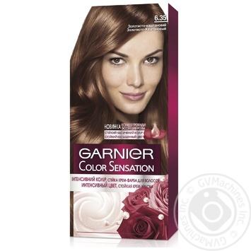 Краска для волос Garnier Color sensation №6.35 золотисто-каштановый 1шт - купить, цены на Ашан - фото 1