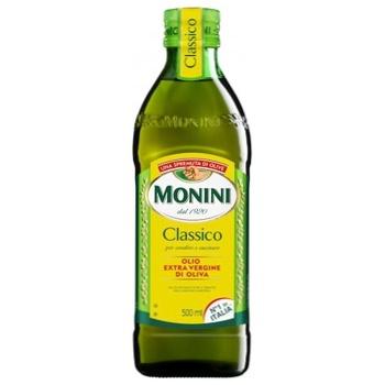 Масло оливковое Monini Extra Virgin первого холодного отжима 0,5л - купить, цены на Ашан - фото 1